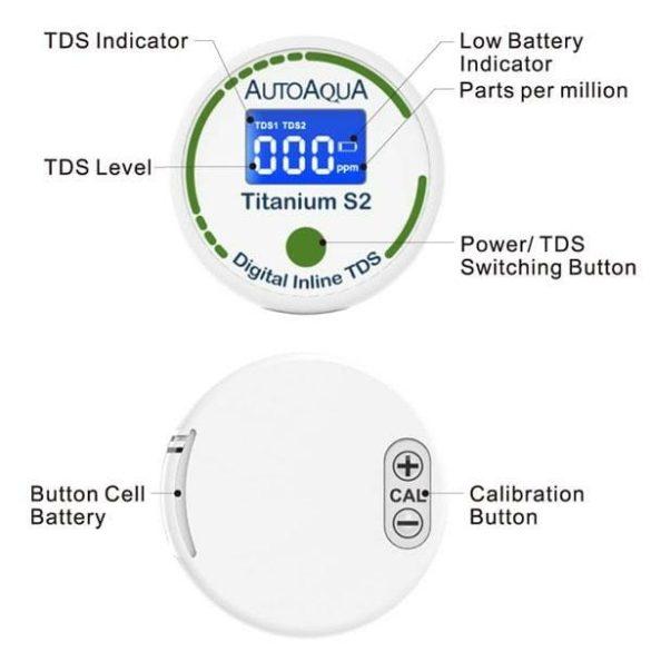 AutoAqua Digital Inline TDS Titanium S2