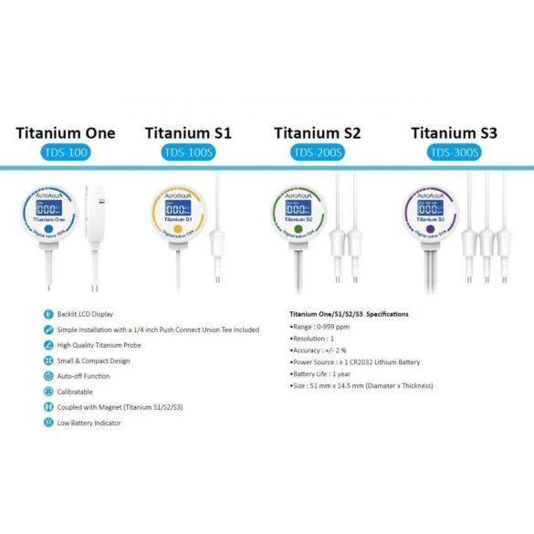 AutoAqua Digital Inline TDS Titanium S3