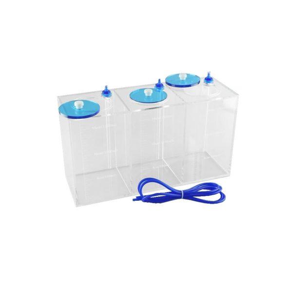 Nyomelem tároló tartály 3x1,5 literes