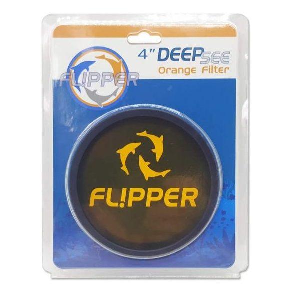 """Flipper Deep See Orange Filter 4"""" - Naracs színű lencse standard nagyítóhoz"""